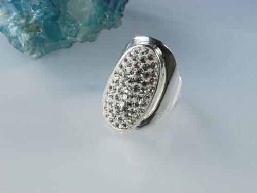 Žiedas su Swarovski kristalais